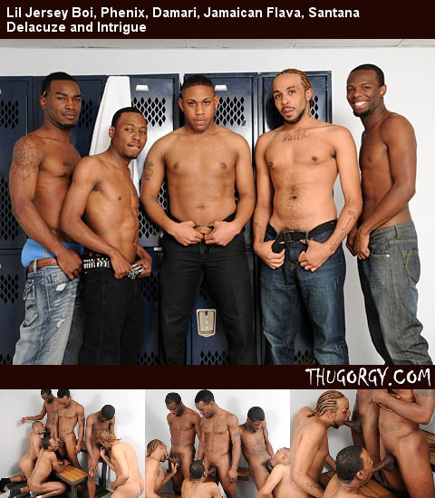 Gay Black Thugs : Lil Jersey Boi, Phenix, Damari, Jamaican Flava, Santana Delacuze and Intrigue!