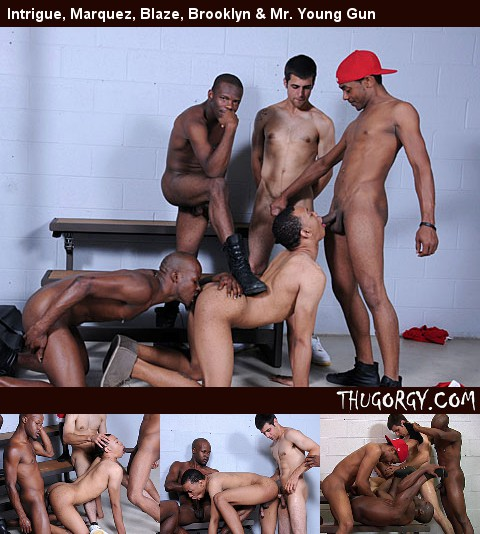 Gay Black Thugs : Cameron, Cali Boi, Malcom New, Virgo da Beast and Brooklyn Bounce - Part 1!