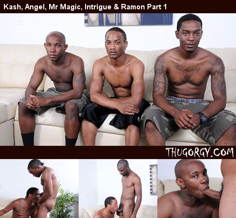 Gay Black Thugs : Kash, Daisy, Mr Magic, Intrigue & Ramon Part 2!